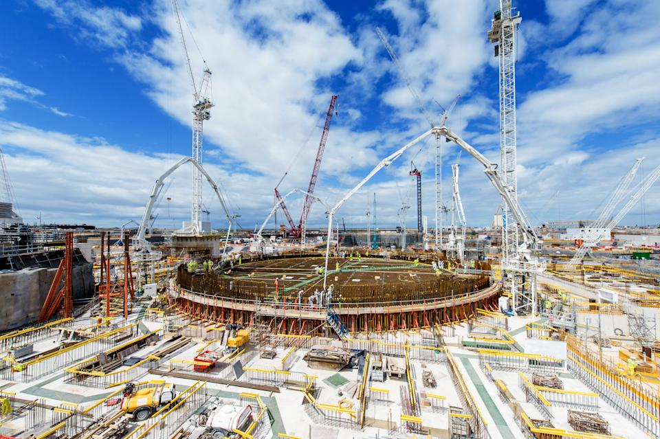 Wide view of Hinkley Point. (BBC/EDF)