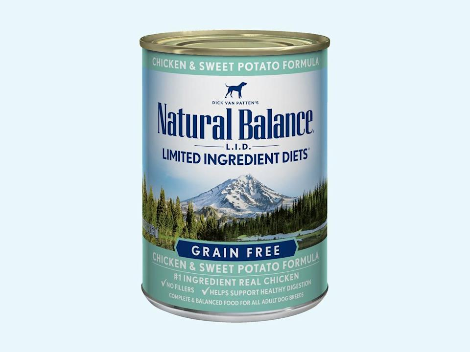 natural balance lid canned dog food