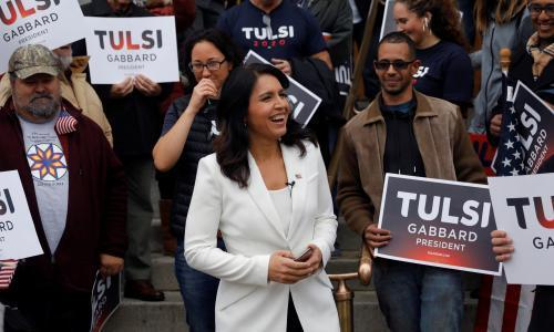'I'm a weird one': Tulsi Gabbard draws unusual mix of fans on the road
