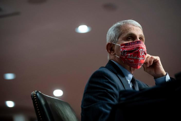 Dr. Anthony Fauci, director of the National Institute of Allergy and Infectious Diseases. (Al Drago/AFP via Getty Images)