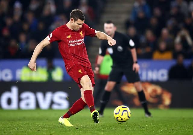 Liverpool's James Milner is back in contention (Tim Goode/PA)