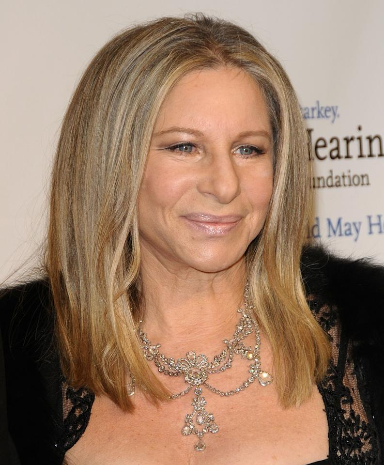 Barbra Streisand<br><br>Age: 69<br><br>Achievements: Streisand is one of the most successful entertainers in the world. She has sold more than 140 million albums worldwide and is one of the few entertainers who have won an Oscar, Emmy, Grammy, and Tony Award.<br><br>(Photo by Jason LaVeris/FilmMagic)