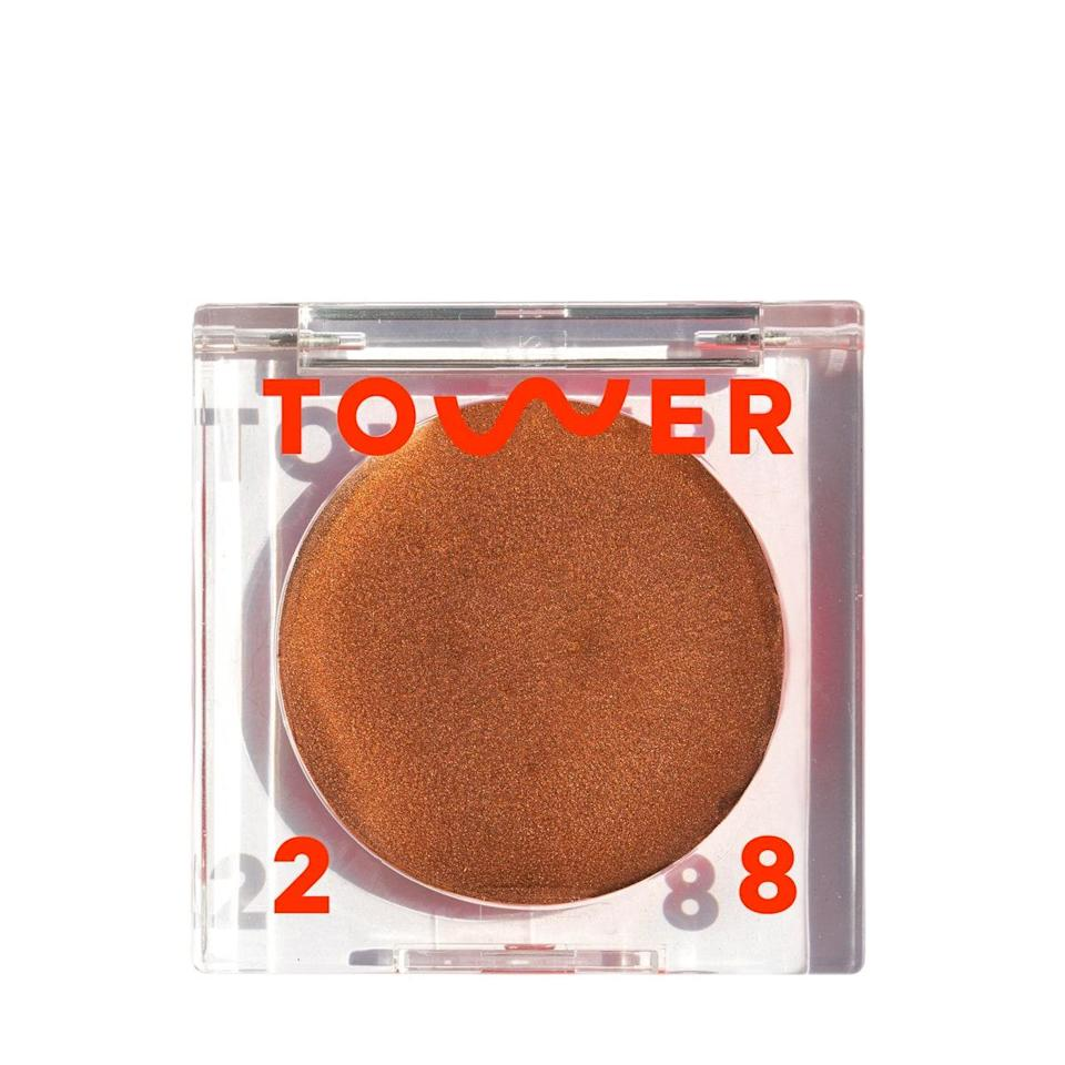 """I was really excited to try this, but the first time I opened up the compact I was confused. It's a super dewy cream with tons of shimmer. I patted some on with my fingers and decided it was not for me. But after """"meeting"""" with the brand and makeup artist Katie Jane Hughes over Zoom, I tried her method of buffing it on with a brush on my cheekbones, nose, and temples. Game changed. When applied properly it gives me the prettiest natural glow that's glossy and not sticky, doesn't highlight my acne, and makes me look alive even if it's the only thing on my face. I can't wait to wear it out of the house. <em>—Bella Cacciatore, beauty associate</em> $20, Sephora. <a href=""""https://shop-links.co/1705210670121765735"""" rel=""""nofollow noopener"""" target=""""_blank"""" data-ylk=""""slk:Get it now!"""" class=""""link rapid-noclick-resp"""">Get it now!</a>"""