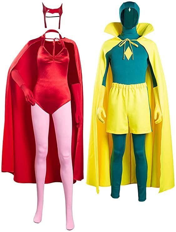 Retro inspired Scarlet Witch and Vision Costumes