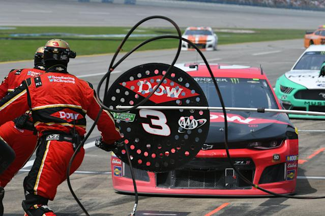 Austin Dillon started first and finished 14th on Sunday at Talladega. (Photo by Jeffrey Vest/Icon Sportswire via Getty Images)