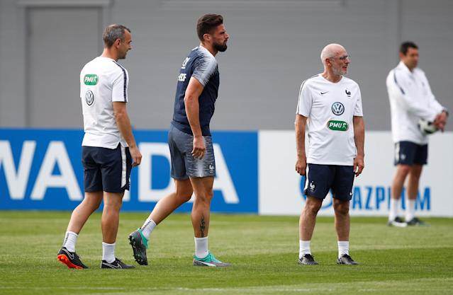 Soccer Football - World Cup - France Training - France Training Camp, Moscow, Russia - June 23, 2018 France's Olivier Giroud during training REUTERS/Axel Schmidt