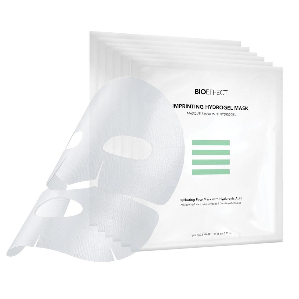 "<p>Bioeffect Imprinting Hydrogel Mask is unlike any other sheet mask because it was specifically made to enhance the effects of the brand's <a href=""https://www.allure.com/story/growth-factors-in-skin-care-penis-facial?mbid=synd_yahoo_rss"" rel=""nofollow noopener"" target=""_blank"" data-ylk=""slk:growth-factor serums"" class=""link rapid-noclick-resp"">growth-factor serums</a>. It materials were selected for how they won't interfere with the advanced ingredients, while boosting the benefits with an additional dose of hyaluronic acid and glycerin for moisture.</p> <p><strong>$16</strong> (<a href=""https://bioeffect.com/products/bioeffect-imprinting-hydrogel-mask"" rel=""nofollow noopener"" target=""_blank"" data-ylk=""slk:Shop Now"" class=""link rapid-noclick-resp"">Shop Now</a>)</p>"