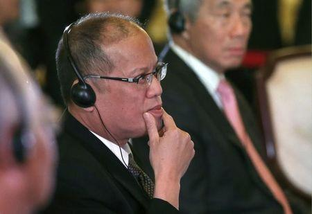 Philippine President Aquino attends the first session of the ASEAN-Japan Commemorative Summit Meeting in Tokyo