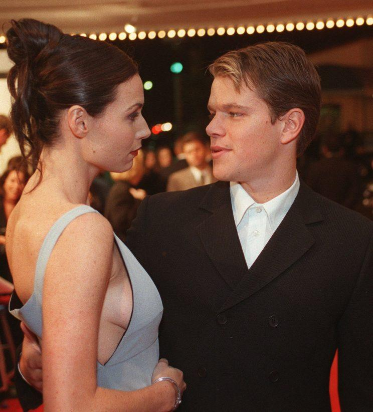 At the Good Will Hunting premiere on Dec. 2, 1997, Minnie Driver and Matt Damon only had eyes for each other. (Photo: AP Photo/John Hayes)