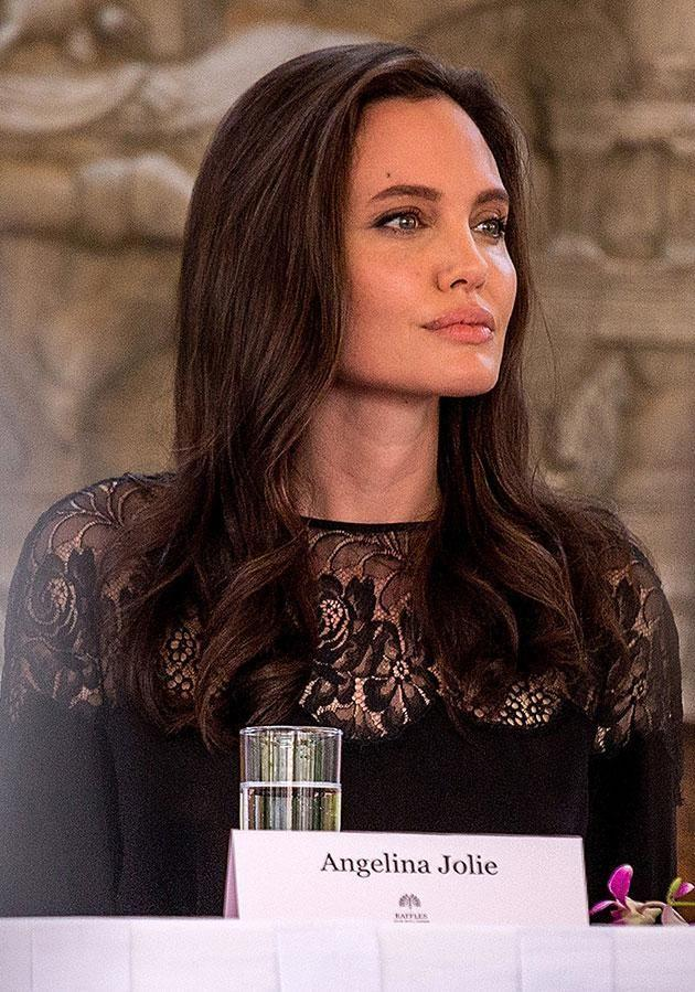 Ange held a press conference to discuss the movie. Source: Getty