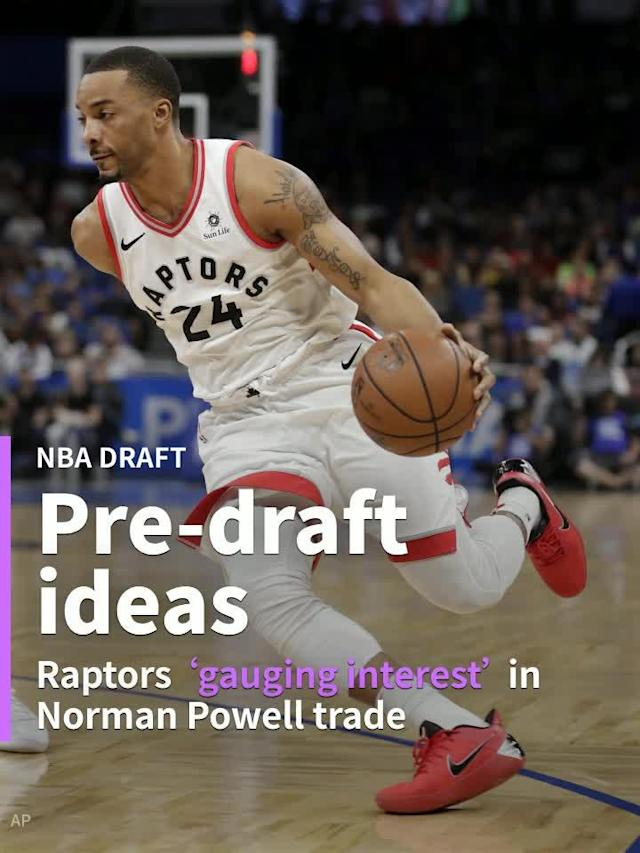 The Raps, who are rumoured to be interested in trading into the lottery ahead of Thursday's NBA Draft, appear to be kicking the tires on a Powell trade.