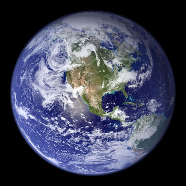 "This NASA handout image received 31 July 2007 shows the spectacular ""blue marble"", the most detailed true-color image of the entire Earth to date (AFP Photo/)"