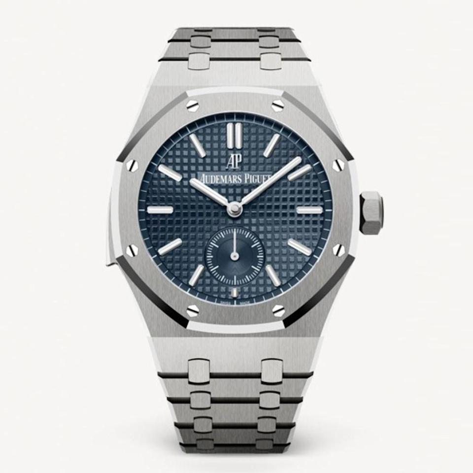 "<p><a class=""link rapid-noclick-resp"" href=""https://www.audemarspiguet.com/en/watch-collection/royal-oak/26591TI.OO.1252TI.01/"" rel=""nofollow noopener"" target=""_blank"" data-ylk=""slk:BUY IT HERE"">BUY IT HERE</a></p><p>Known as one of the supreme luxury watchmakers, Audemars Piguet has a storied history of craft and tradition dating back to their founding in 1875. Their most famous style, the Royal Oak, distinctively stands out with its octagonal face-shape as opposed to the traditional circular one. This is the watch you buy when you are looking to invest in an everyday option that will impress.<br></p>"