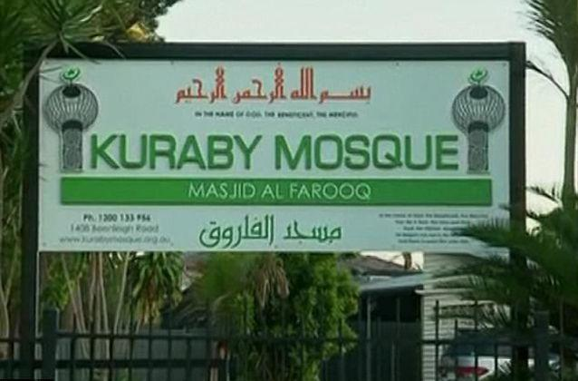 The father spent Tuesday night praying at the nearby Kuraby Mosque. Source: 7 News