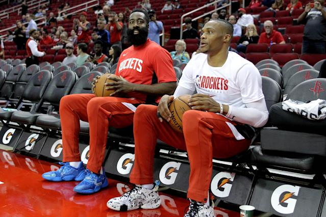 Will James Harden and Russell Westbrook prevent each other from hitting a few milestones this season? (Reuters)