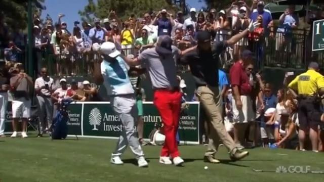 Fan who touched Justin Timberlake's face at Lake Tahoe golf tournament arrested