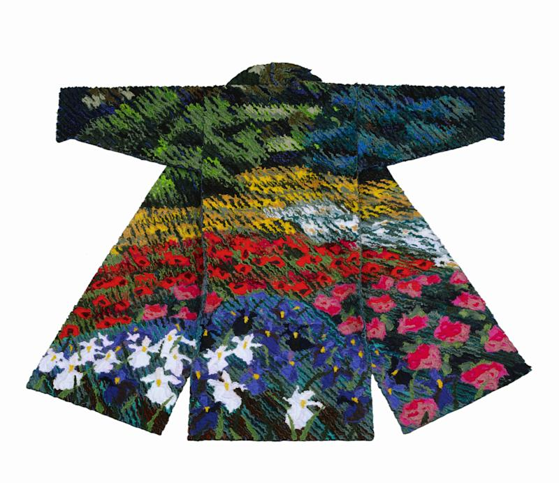 Tim Harding, Garden: Field of Flowers, 1991. Quilted, layered, slashed and rayed cotton. 56 x 67 x 3 in. Museum of Arts and Design, New York.