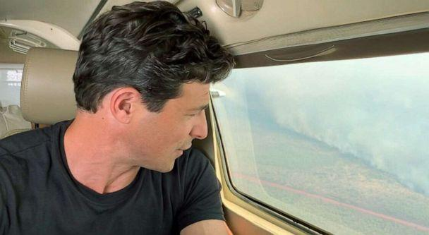 PHOTO: ABC News' Matt Gutman reports on the fires engulfing the Amazon, August 2019. (ABC News)