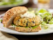 """<p><strong>Crab Cake Sandwich</strong></p><p>A summer on Chesapeake Bay isn't complete without a crab cake sandwich. A Maryland staple at <a href=""""https://crabcake-factory-online.myshopify.com/"""" rel=""""nofollow noopener"""" target=""""_blank"""" data-ylk=""""slk:The Original Crabcake Factory"""" class=""""link rapid-noclick-resp"""">The Original Crabcake Factory</a>, seasoned with Old Bay, fried golden brown, tartar sauce and lemon wedges on a bun. </p>"""