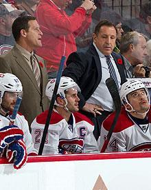 Randy Cunneyworth, left, replaced the French-speaking Jacques Martin last week