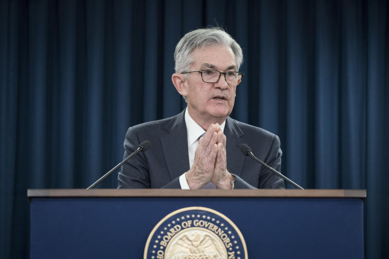 WASHINGTON, Dec. 11, 2019 -- U.S. Federal Reserve Chairman Jerome Powell speaks during a press conference in Washington D.C., the United States, on Dec. 11, 2019. The U.S. Federal Reserve on Wednesday left interest rates unchanged after cutting rates at each of the last three meetings, as officials assessed the effect of rate cuts on the U.S. economy. (Photo by Sarah Silbiger/Xinhua via Getty) (Xinhua/Sarah Silbiger via Getty Images)