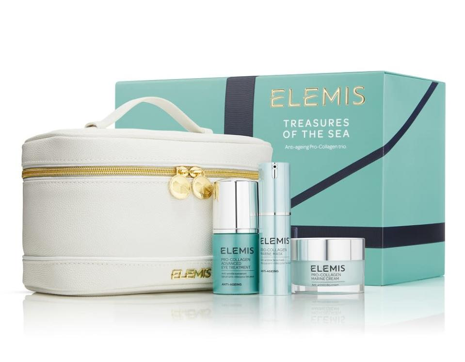 <p>Worth £105, this 'Treasures of the Sea' set, from British skincare label Elemis, is a gorgeous gift set. Each product boasts a pro-collagen formula, clinically proven to reveal smoother skin and brighter eyes. </p>