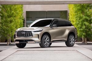 """More than a design study or concept, a """"Monograph"""" provides a tangible insight into how INFINITI plans to transform a future model. The QX60 Monograph previews some of the proportions and design elements that will adorn the brand's future three-row SUV."""