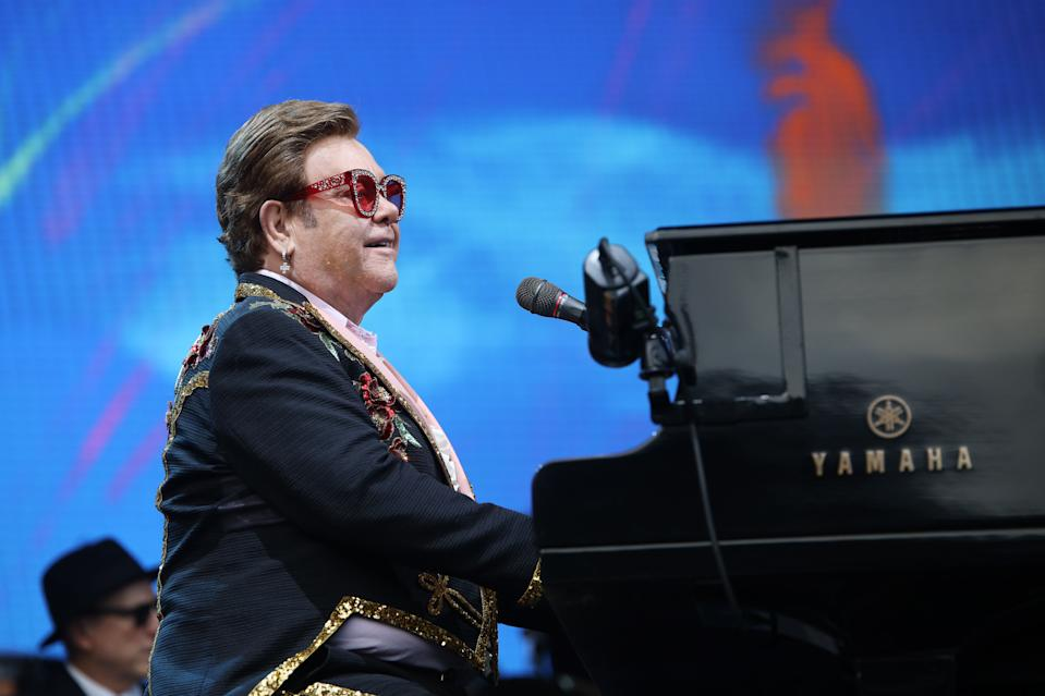 Elton John is focusing efforts on AIDS foundation during coronavirus pandemic. (Photo: Getty Images)