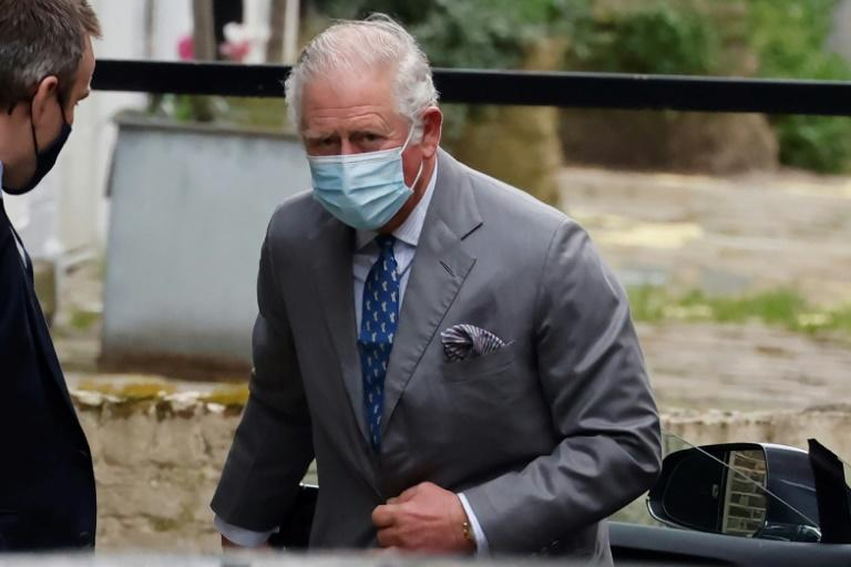 Prince Charles, heir to the throne, was seen entering the rear entrance of the King Edward VII hospital in central London wearing a mask