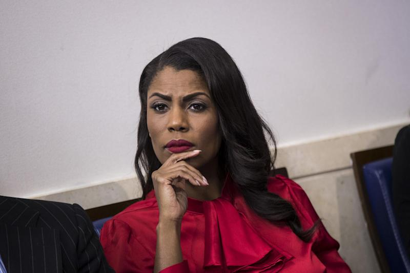 Director of Communications for the White House Public Liaison Office Omarosa Manigault listens during the daily press briefing at the White House: Drew Angerer/Getty Images