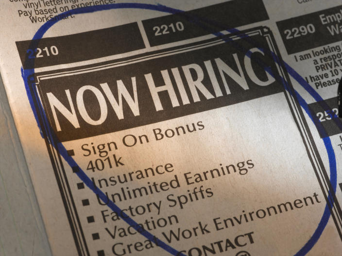Job postings showed some signs of recovery but this may be short lived due to second national lockdown. Credit: Getty.