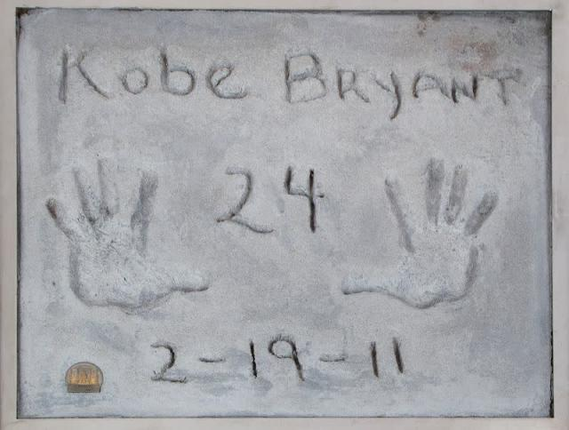 Test prints of Kobe Bryant's hands going up for auction in Beverly Hills