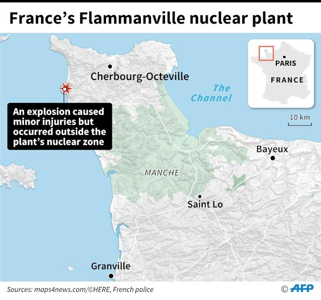 Explosion at French nuclear plant (AFP Photo/)