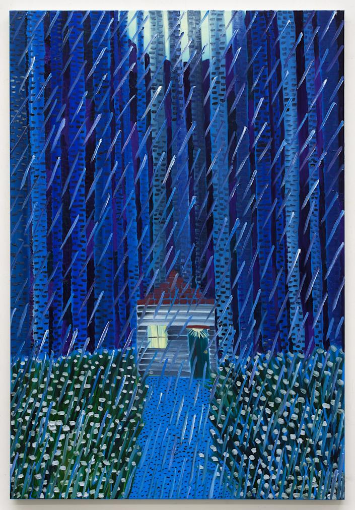 "<div class=""caption""> <em>Blue Rain</em> by Matthew Wong, 2018 oil on canvas 72 × 48 inches. </div> <cite class=""credit"">Photo: Courtesy of the Artist's Estate and Karma, New York</cite>"