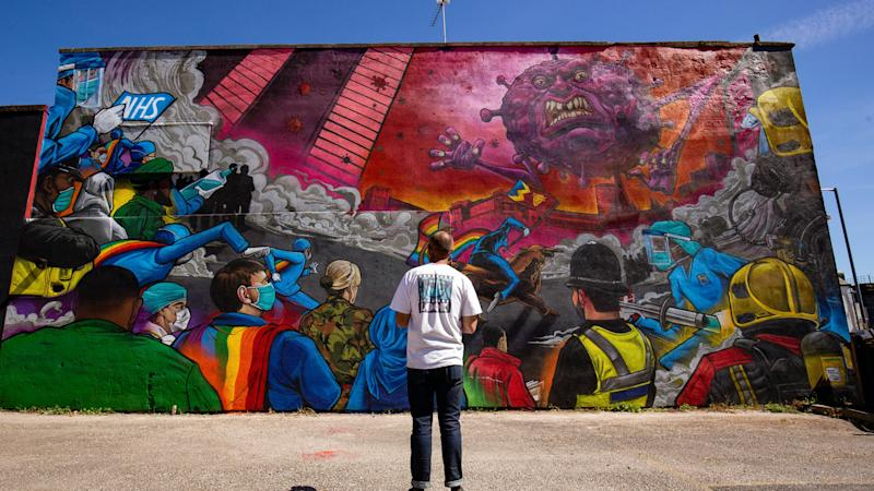 Artist creates Covid-19 themed mural to pay tribute to NHS workers in Birmingham