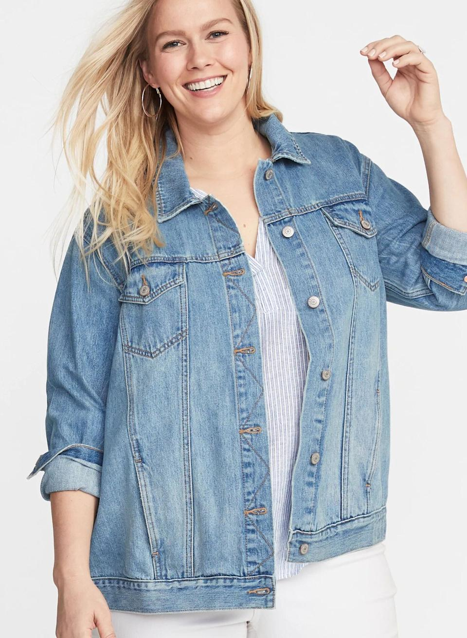 Old Navy's best-selling denim jacket is perfect for summer and under $50. (Photo: Old Navy)