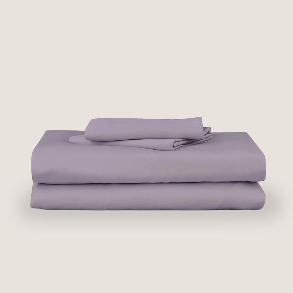 """<strong>Under £150</strong><br><br>All those podcast adverts have turned buying new sheets into a minefield. Sustainable cotton? Moisture wicking material? All I wanted to do was listen to true crime. All I know is that my new eucalyptus sheets from Mela were everything during that last heatwave. They feel like you're lying on the cool side of the pillow all night and slipping into them feels proper slinky without them looking or feeling like the material those gross silky boxers are made out of. They are up there in terms of price however so make sure you save them for a sleeping partner who's worth it.<br><br><strong>Mela Comfort</strong> Eucalyptus Silk Sheet Set, $, available at <a href=""""https://www.melacomfort.co.uk/products/eucalyptus-sheet-set"""" rel=""""nofollow noopener"""" target=""""_blank"""" data-ylk=""""slk:Mela Comfort"""" class=""""link rapid-noclick-resp"""">Mela Comfort</a>"""