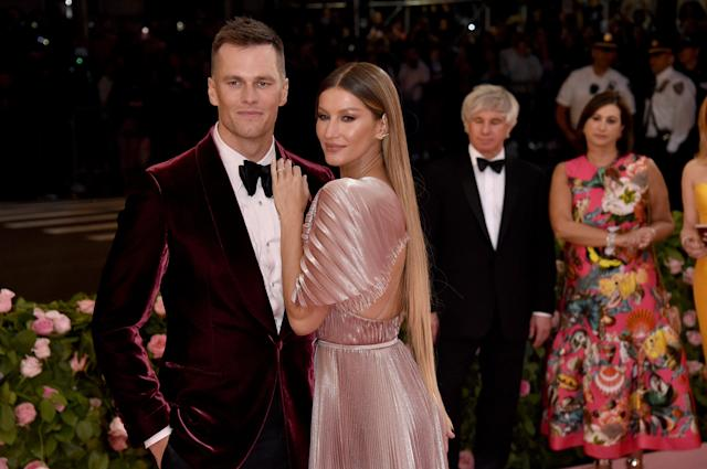Tom Brady and Gisele Bündchen attend The 2019 Met Gala Celebrating Camp: Notes on Fashion at Metropolitan Museum of Art on May 06, 2019 in New York City. (Photo by John Shearer/Getty Images for THR)