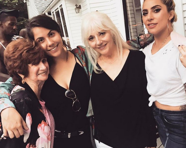 """<p>Taking a quick break from her <em>Joanne</em> tour, the powerhouse singer stopped at a family barbecue in Cleveland. Gaga snapped this pic with her sister Natali Germanotta, mom Cynthia Germanotta, and grandmother Veronica Bissett, and appropriately captioned it, """"Three generations of fire.""""<br>(Photo: <a href=""""https://www.instagram.com/p/BYHcYtcgRtt/?taken-by=ladygaga"""" rel=""""nofollow noopener"""" target=""""_blank"""" data-ylk=""""slk:Lady Gaga via Instagram"""" class=""""link rapid-noclick-resp"""">Lady Gaga via Instagram</a>) </p>"""