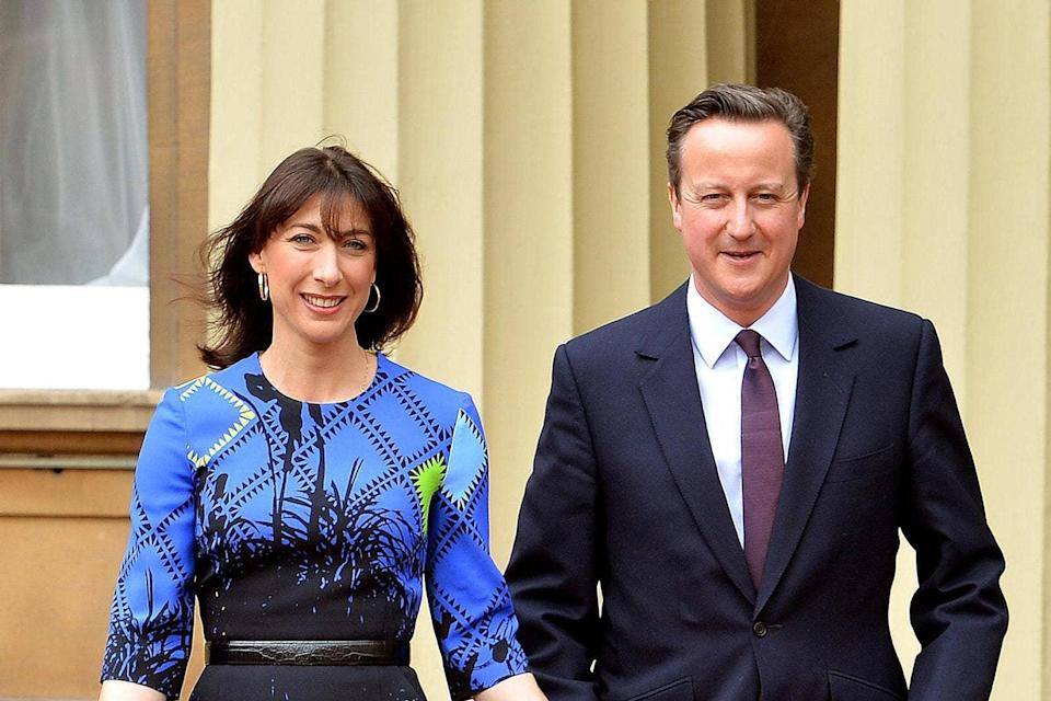 Former Prime Minister David Cameron and wife SamanthaGetty Images