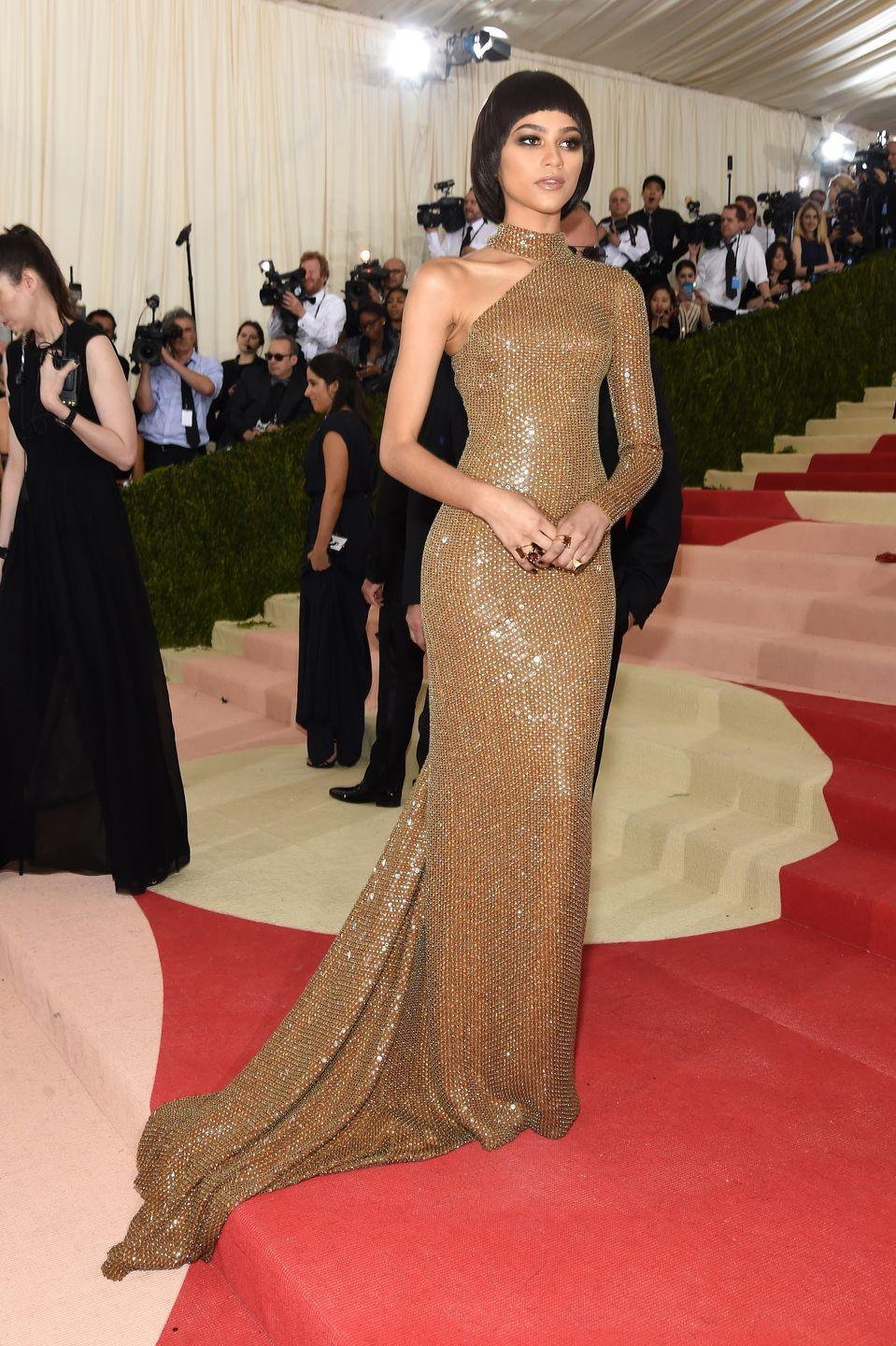 <p>Yes. Just....yes. For the 2016 Met Gala, she wore this custom Michael Kors Collection gown that further cemented her fashion icon status.</p>