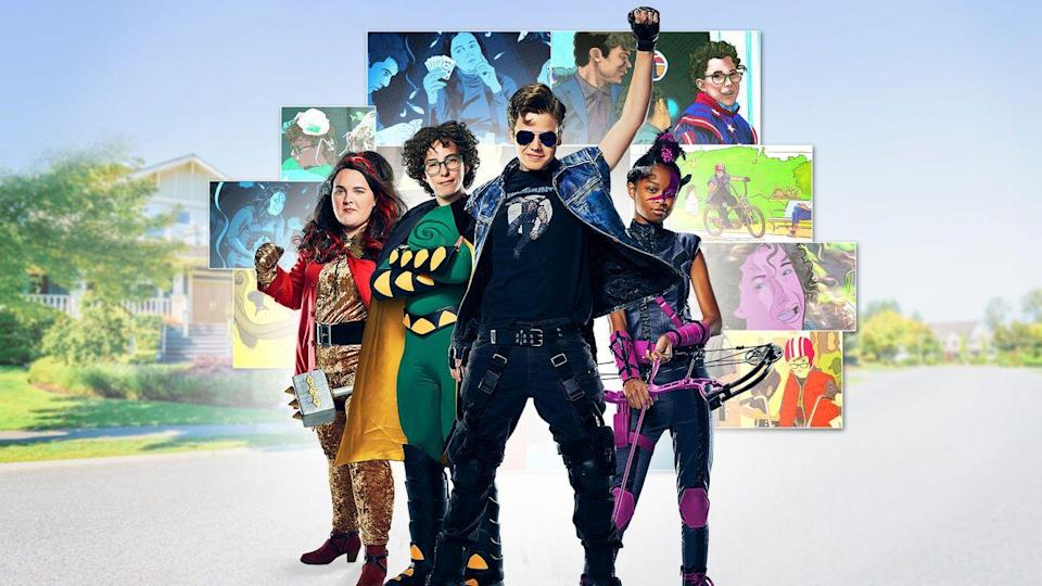 """<p>The show is about a group of friends trying to sneak into a comic-con. It's good for superhero fans and heist enthusiasts alike.</p><p><a class=""""link rapid-noclick-resp"""" href=""""https://www.netflix.com/watch/80207487"""" rel=""""nofollow noopener"""" target=""""_blank"""" data-ylk=""""slk:WATCH NOW"""">WATCH NOW</a><br></p>"""
