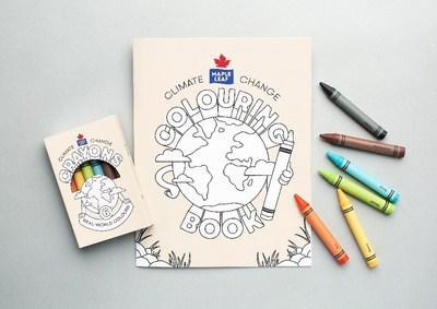 Maple Leaf's Climate Change Colouring Kits illustrate the impact that simple steps can have in ensuring a healthy planet for future generations (CNW Group/Maple Leaf Foods Inc.)