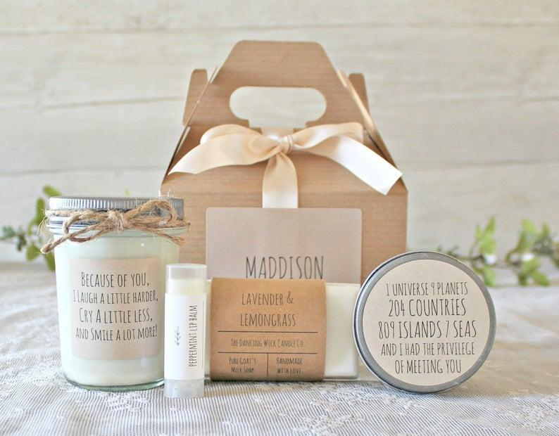 <p>This <span>Best Friend Spa Gift Box</span> ($55) is super cute, personable, and comes in so many wonderful scents.</p>