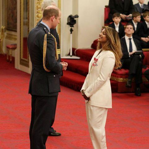 """<p>Prince William presented M.I.A. with an MBE for services to music.</p><p><a href=""""https://www.instagram.com/p/B7TmT9Fn03r/?utm_source=ig_embed&utm_campaign=loading"""" rel=""""nofollow noopener"""" target=""""_blank"""" data-ylk=""""slk:See the original post on Instagram"""" class=""""link rapid-noclick-resp"""">See the original post on Instagram</a></p>"""