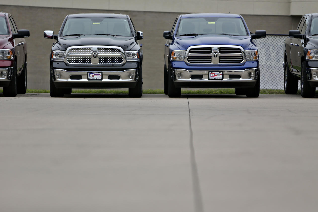 Fiat Chrysler Recalls Nearly 495,000 Pickup Trucks Because of Fire Risk
