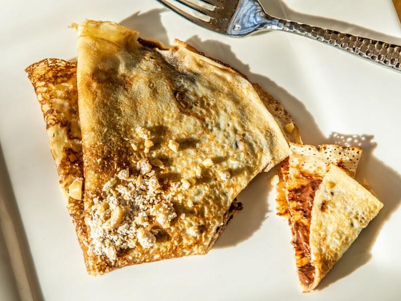 Cornmeal crepe with hazelnuts and Nutella from chef Tanya Holland. | Sarah Crowder