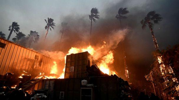 PHOTO: A home is engulfed in flames during the Woolsey Fire in Malibu, Calif., Nov. 9, 2018. (Gene Blevins/Reuters)