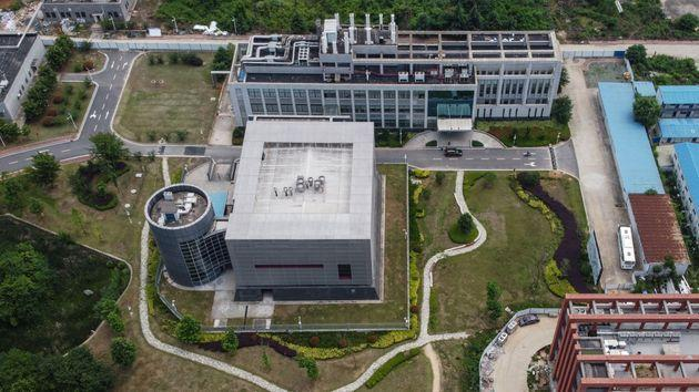 This aerial view shows the P4 laboratory on the campus of the Wuhan Institute of Virology in Wuhan in China's central Hubei province on May 27, 2020. - Opened in 2018, the P4 lab conducts research on the world's most dangerous diseases and has been accused by some top US officials of being the source of the COVID-19 coronavirus pandemic. China's foreign minister on May 24 said the country was