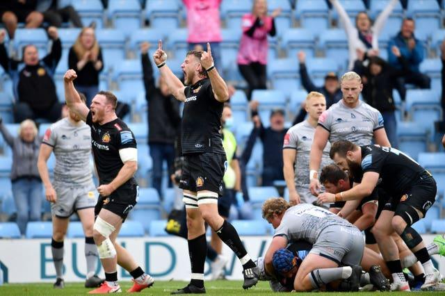 Exeter reached the Gallagher Premiership final after a 40-30 success against Sale Sharks